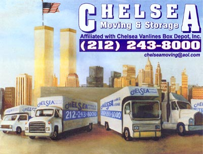Manhattan Movers - Chelsea Movers, NYC Movers, Storage, Boxes - Original Painting